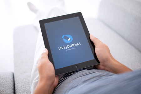 Simferopol, Russia - August 20, 2014: LiveJournal blog platform for conducting online diaries. Provides an opportunity to publish their writing and comment on other people.