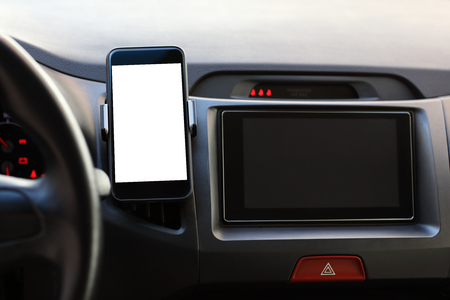 Phone and multimedia system with an isolated screen in the car