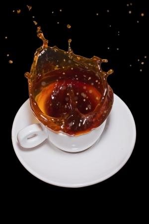 sputter: Splashing coffee