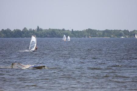 sailling: Windsurfing Stock Photo