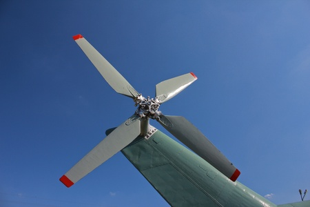 Helicopter rotor photo