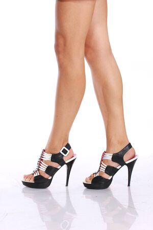 women s feet: Women legs with shoes