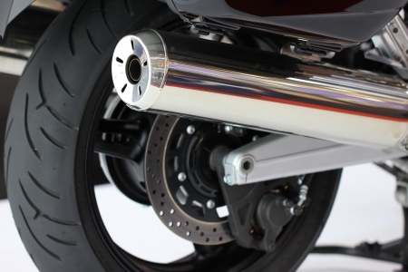 polution: Motorcycle exhaust pipes
