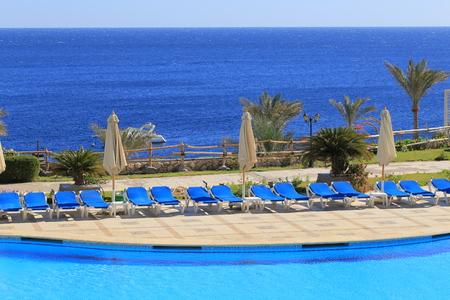 outdoor swimming pool Stock Photo