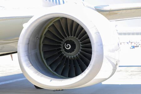 passenger airplane jet engine turbine