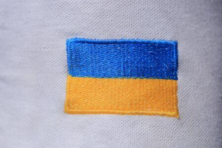 Ukrainian flag embroidered