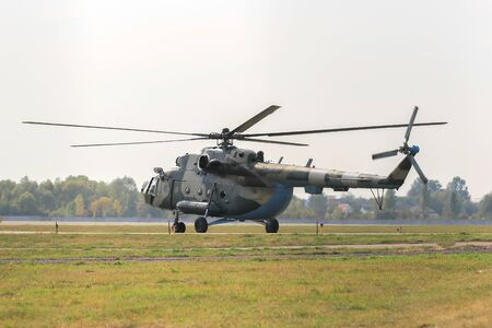Helicopter Mil Mi-8 take off at the airport Stock fotó
