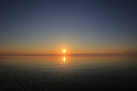 Beautiful panorama sunset and sea view
