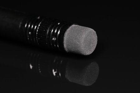 Pencil eraser isoleted on black background