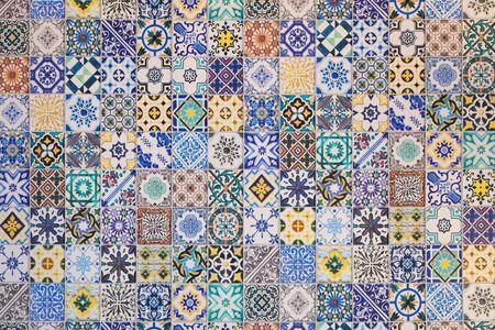 Fondo de ornamento tradicional de azulejos orientales Foto de archivo