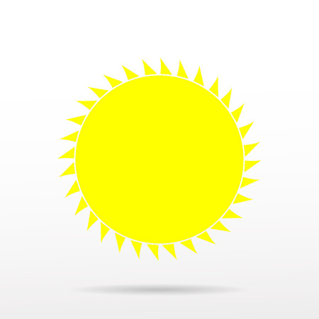 lat sun icon. Sun pictogram. Trendy vector summer symbol for website design, web button, mobile app. Template vector illustration.