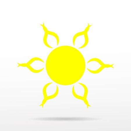lat sun icon. Sun pictogram. Trendy vector summer symbol for website design, web button, mobile app. Template vector illustration.