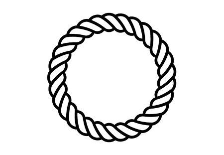 Brosses à motifs de cordes. Corde nautique sans couture et rayures de chaîne isolées sur fond. Collection de silhouettes tresses et tresses.