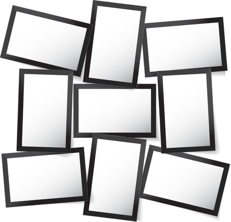 Vector frame for photos and pictures, photo collage, photo puzzle. Templates collage frames for photo or illustration. Vector Mood Board Branding Presentation.