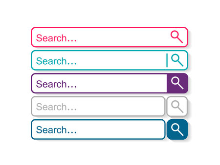 Search bar, set of search template isolated on white background. Vector element design 向量圖像