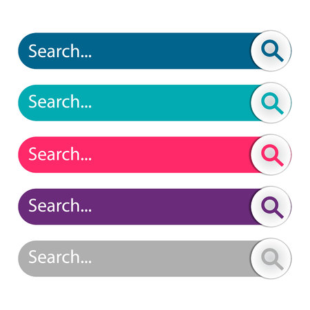 Search bar, set of search template isolated on white background. Vector element design Ilustrace