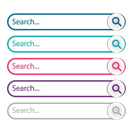 Search bar, set of search template isolated on white background. Vector element design Reklamní fotografie - 120439347