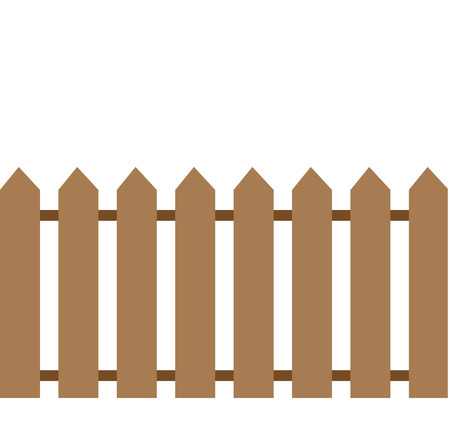 Simple fence vector icon eps10 Metal fence Wooden fence Ilustrace