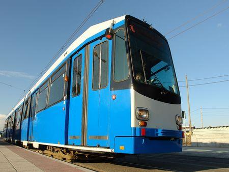 terminus: Blue ciudad de espera en el terminal de tranv�a