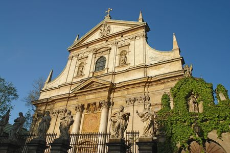 Facade of baroque Church of St Peter and St Paul in Krakow photo
