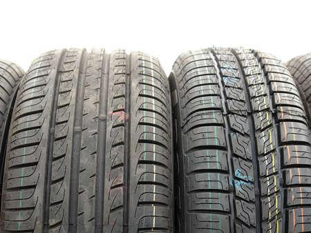 Closeup of row of car tires Stock Photo - 1133374