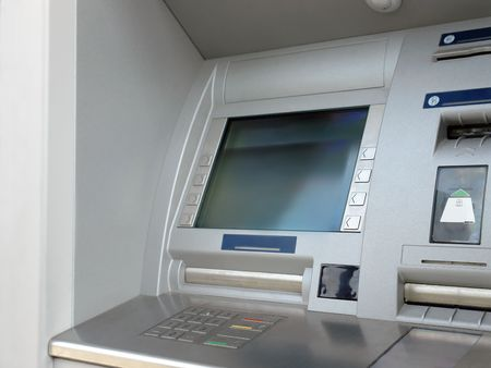 Closeup of automated teller machine window Stock Photo - 1185997