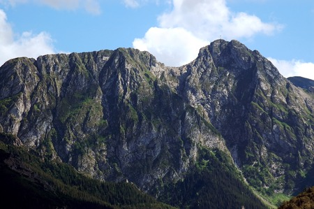 giewont: Mt Giewont, one of the best known summit in the Polish Tatra mountains Stock Photo