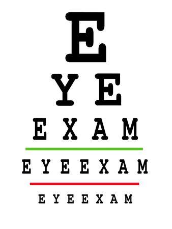 visual perception: Eye exam chart - conceptual