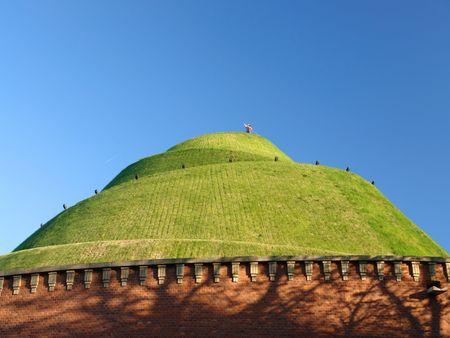 hillock: Tadeusz Kosciuszko mound in Krakow founded by Polish nation to commemorate the National Hero
