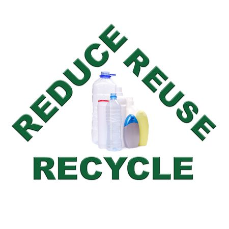 segregate: Reduce-reuse-recycle concept series - plastic containers Stock Photo