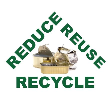 segregate: Reduce-reuse-recycle concept series - metal cans Stock Photo