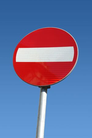 Do not enter traffic sign over clear blue sky Stock Photo - 2698976