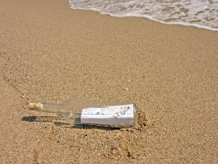 corked: Message in the bottle washed ashore