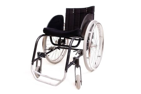 healthcare facilities: Active wheelchair isolated on white background Stock Photo