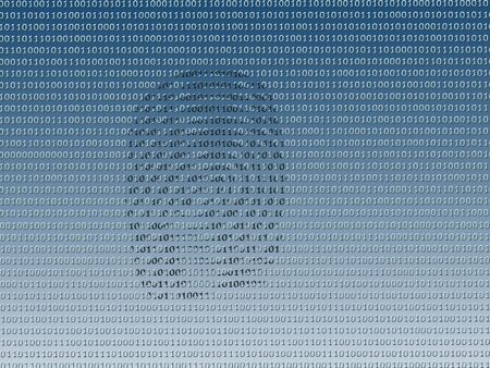 encrypted: Digital fingerprint on background made of 0 and 1 digits Stock Photo