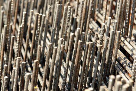 reinforcement: Closeup of steel reinforcement mesh Stock Photo