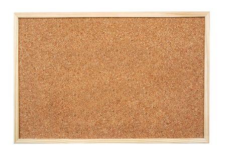 Blank corkboard  isolated on white background Stock Photo - 3330680