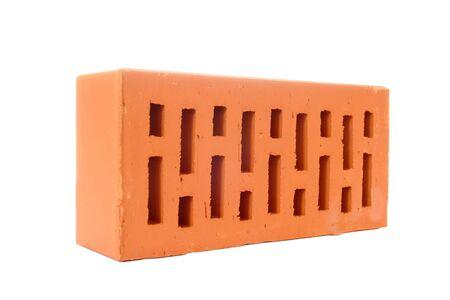 Perforated brick isolated on white background Stock Photo - 3330663