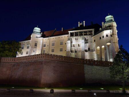 Royal Wawel Castle illuminated at night, Krakow - Poland Stock Photo - 5223825