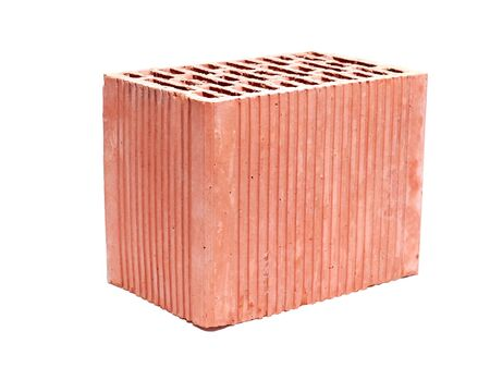 Hollow ceramic brick shot on white background Stock Photo - 5311924