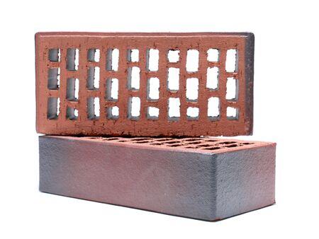 clinker: Two clinker bricks shot on white background