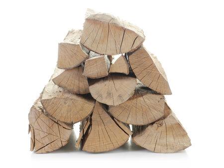 beechwood: Pile of chopped beechwood shot on white