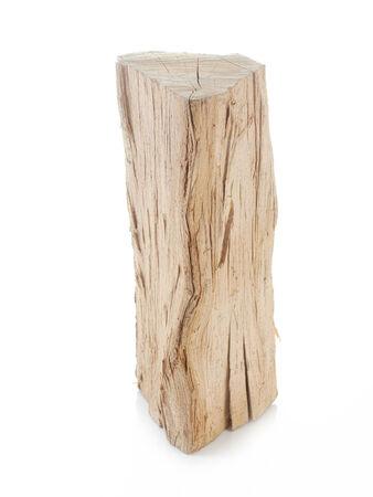 beechwood: Piece of chopped beechwood shot on white Stock Photo