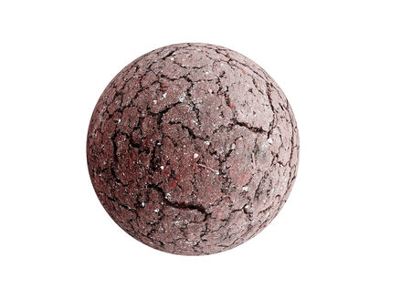 cracked earth: Dried and cracked Earth sphere as global warming concept Stock Photo