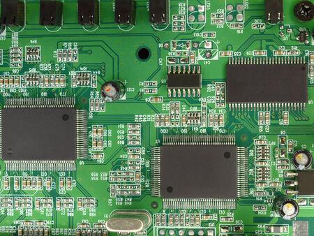circuitos electricos: Placa de circuito impreso dispararon desde arriba