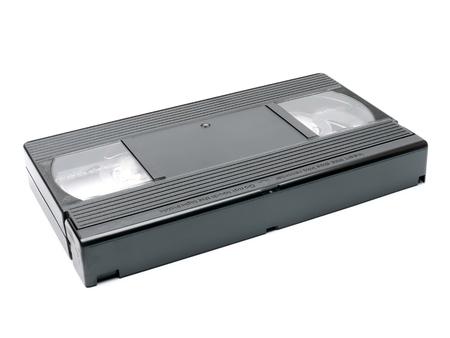 vhs videotape: Old VHS tape shot over white background