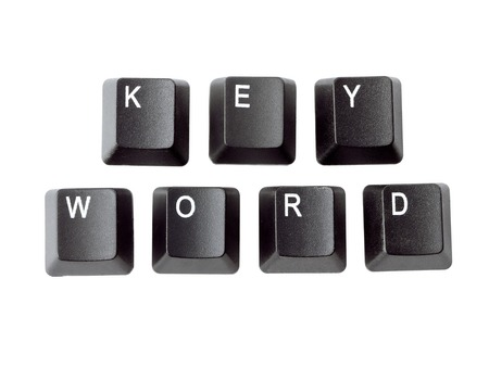 Black keyboard keys forming KEYWORD word over white background Stock Photo - 26887583