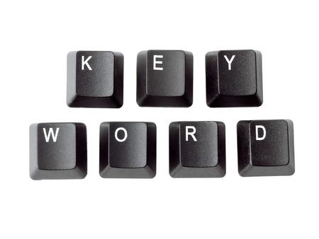 Black keyboard keys forming KEYWORD word over white background Stock Photo - 26887583