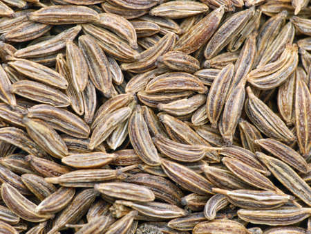 caraway: Caraway seeds shot from above Stock Photo