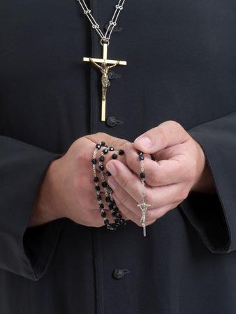 toog: Close-up van de katholieke priester Stockfoto